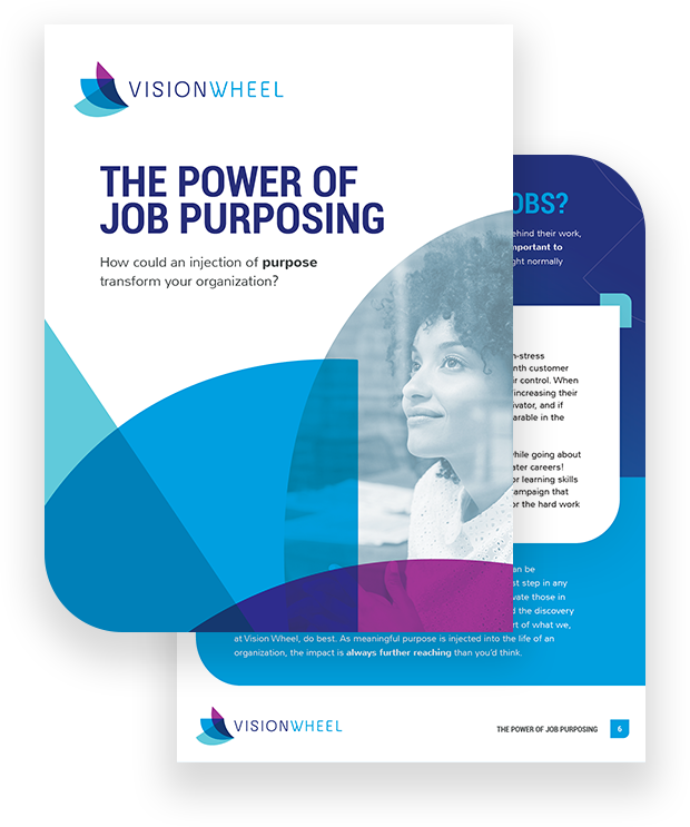 "This image displays the title page for the white paper called ""The Power of Job Purposing: How could an injection of purpose transform your organization?"""