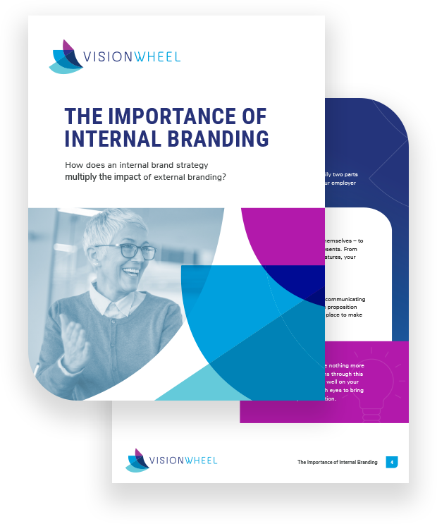 """This image displays the title page for the white paper called """"The Importance of Internal Branding: How does an internal brand strategy multiply the impact of external branding?"""""""